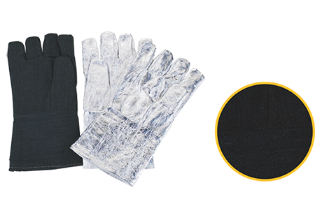 Carbon Fiber Gloves With Aluminum Foilmitten, Finger