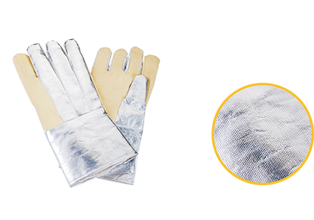 Kevlar Gloves With Aluminum Foil Mitten, Finger