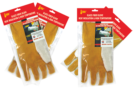 Ceramic Fiber And Cow Leather Gloves Mitten, Finger