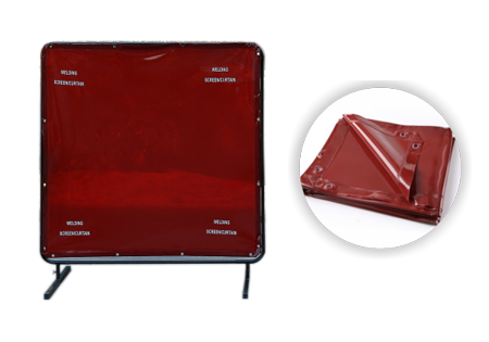 Dark Red Welding Screen/Curtain